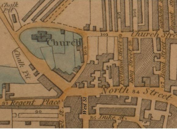 1822 map with West Street