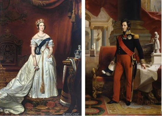 Victoria and Louis Philippe