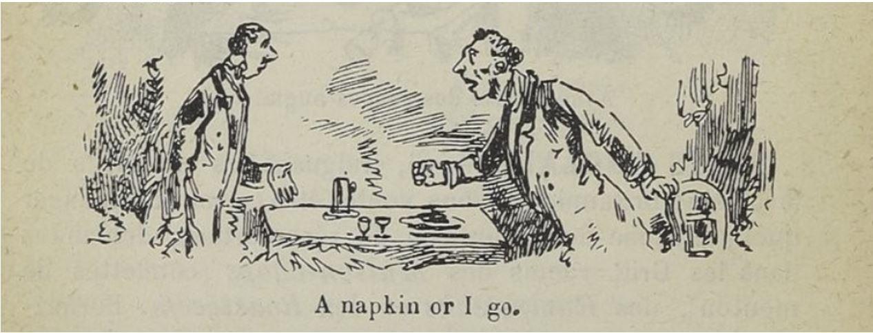 a napkin or I go