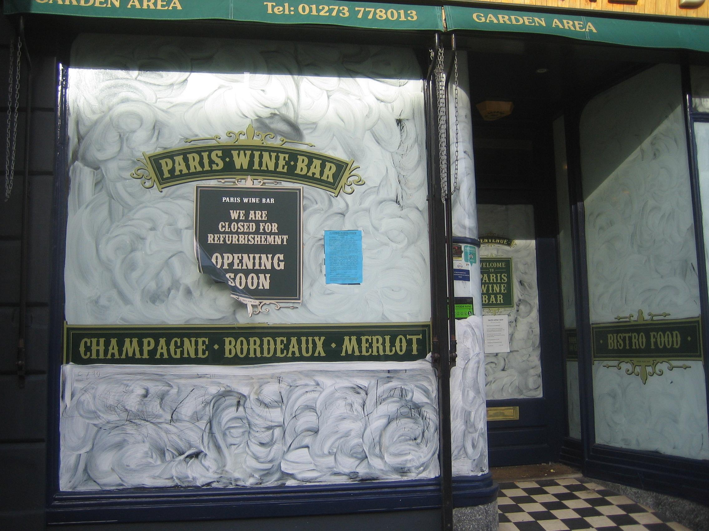 Paris Wine Bar Hove Feb 2020