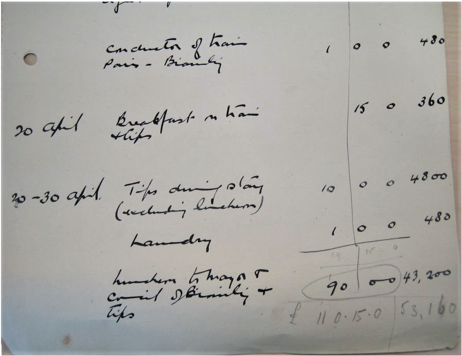 Town Clerk's accounts