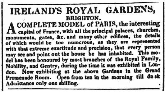 Irelands's Pleasure Gardens 8 Sept 1825